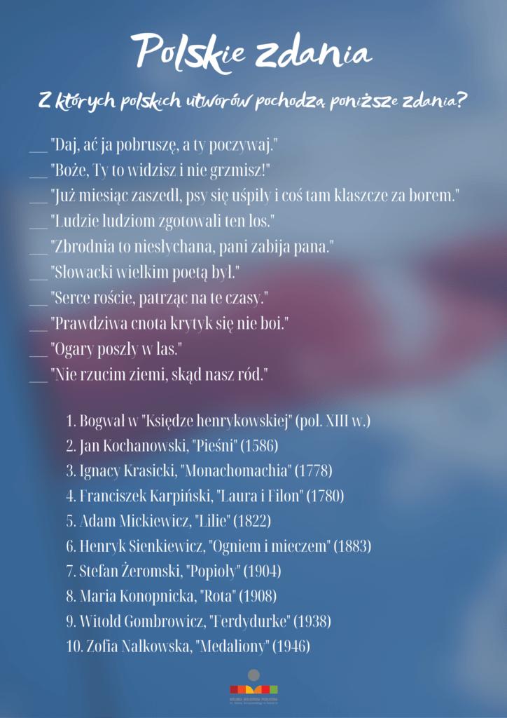 Obrazek ilustrujący quiz - polskie zdania. Treść quizu znajduje się w treści postu