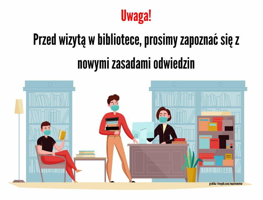 Zmiana godzin otwarcia biblioteki w czasie epidemii
