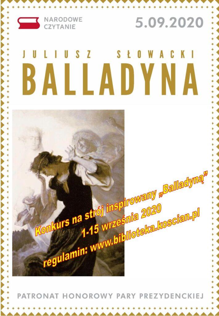 "plakat promujący konkurs na strój z ""Balladyny"""