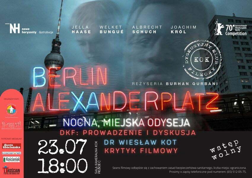 Plakat Dyskusyjnego Klubu Filmowego
