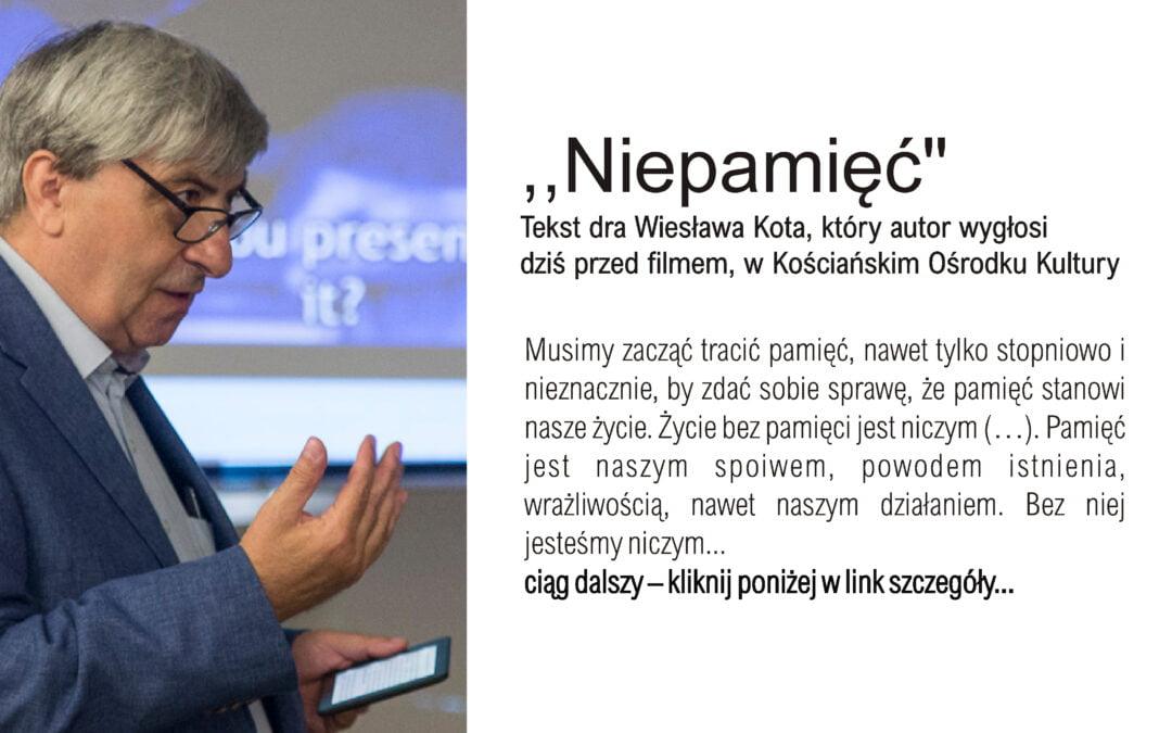 Zapraszamy do DKF-u dra Wiesława Kota