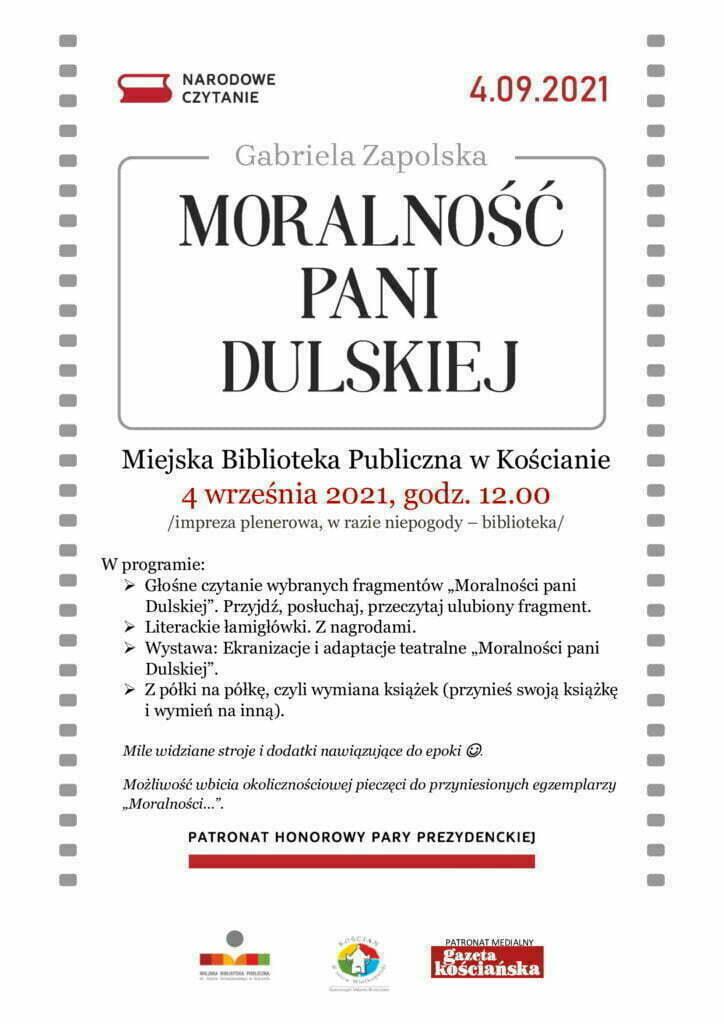 program Narodowego Czytania zapisany na plakacie