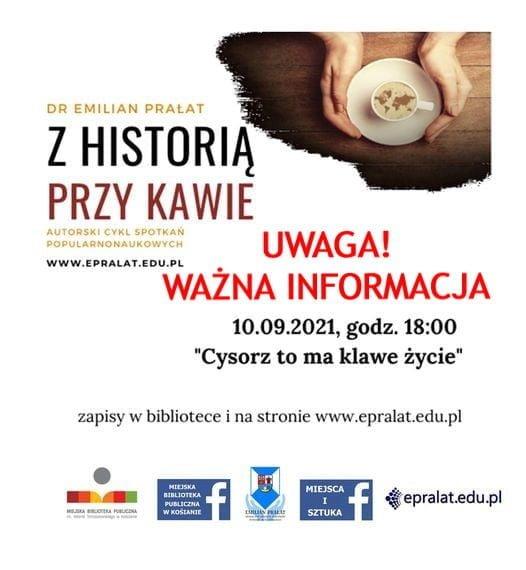 UWAGA! Zmiana miejsca wykładu dr. Emiliana Prałata