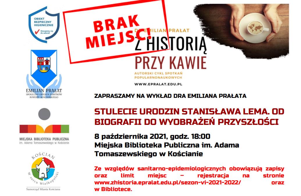 Uwaga! Brak wolnych miejsc na piątkowy wykład dr. Emiliana Prałata