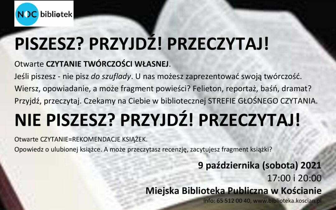 Piszesz? Przyjdź! Przeczytaj!